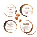 Coffee Stains With Type Royalty Free Stock Photography - 46645197