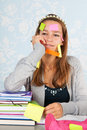 Teen Girl With Al Lot To Remember Royalty Free Stock Photos - 46651798