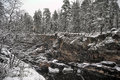 River Canyon And Rocks In Winter Stock Image - 46663281