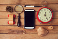 Hipster Lifestyle. Vintage And Modern Objects Collection. View From Top Royalty Free Stock Images - 46663999