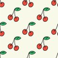 Seamless Pattern With Cherry. Vector Illustration. Stock Photography - 46667482