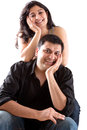 Happy East Indian Husband With His Pregnant Wife Royalty Free Stock Images - 46684099