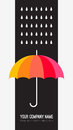 Vector Umbrella And Rain Drops. Abstract Weather Stock Photography - 46685362
