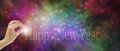 Happy New Year Make A Wish Website Banner Stock Photo - 46698980