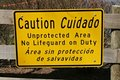 Caution Sign At Lake Royalty Free Stock Photography - 4673037