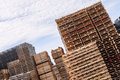 Stacked Wood Pallets And  Material Royalty Free Stock Photos - 46702028