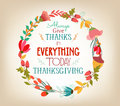 Happy Thanksgiving Florals Wreath Colors Royalty Free Stock Photos - 46704808