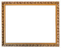 Carved Golden Wooden Picture Frame Isolated Royalty Free Stock Image - 46708636