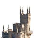 Swallow Nest Palace In Crimea Isolated Stock Images - 46708644