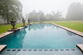 Swimming Pool Mist Landscape Royalty Free Stock Images - 46708989