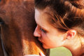 Girl Kissing Horse Royalty Free Stock Images - 46710799