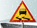 Winter Road Sign Stock Photo - 46711800