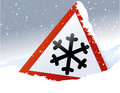 Winter Road Sign Royalty Free Stock Photo - 46711805