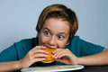 Hungry Boy Stock Photography - 46731152