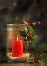 Christmas Candle Stock Images - 46734164