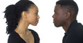 Young African American Couple Looking At Each Other Royalty Free Stock Photography - 46738477