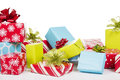 Christmas Presents Isolated On White Background Royalty Free Stock Photos - 46739158