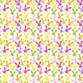 Colorful Seamless Pattern With Easter Bunny. Stock Photography - 46739612