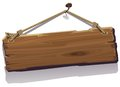 Wood Board On The Rope Royalty Free Stock Photography - 46756717
