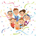 Third Generation Good Friend Family And Paper Streamer Stock Photography - 46757982