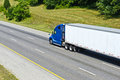 Big Blue And White Truck Royalty Free Stock Photography - 46758287