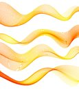 Set Of Orange Transparent Smoke Wave Royalty Free Stock Image - 46759176