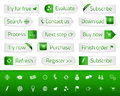 Light Web Buttons With Green Bookmarks And Icons Royalty Free Stock Photo - 46760795