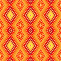 Ethnic Zigzag Pattern In Retro Colors, Seamless Vector Royalty Free Stock Photo - 46763105