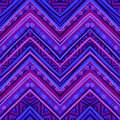 Ethnic Zigzag Pattern In Retro Colors, Seamless Vector Stock Photography - 46763502