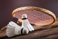 A Set Of Badminton. Paddle And The Shuttlecock. Royalty Free Stock Image - 46769466