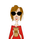 Coffee Lady Stock Photography - 46782242