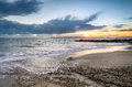 Solent Beach Sunset Stock Images - 46783024