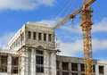 Construction Site With Crane Royalty Free Stock Images - 46798659