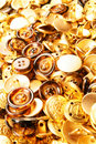 Gold Buttons Texture Stock Images - 4684624