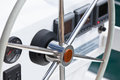 Sailing Yacht Control Wheel And Implement Royalty Free Stock Photography - 46802837