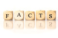 Facts Spelled Word, Dice Letters With Reflection Stock Images - 46802974