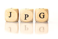 JPG Spelled Word, Dice Letters With Reflection Royalty Free Stock Photo - 46803015