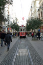 Istiklal Avenue And Tram In Istanbul Royalty Free Stock Photo - 46806215