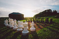 Outdoor Chess Set Royalty Free Stock Images - 46818209