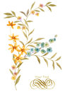 Watercolor Illustration Flower In Simple Background Royalty Free Stock Image - 46821726