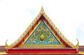 Traditional Thai Style Pattern On The Roof In Temple Stock Photos - 46832403