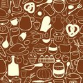 Vector Kitchen Seamless Pattern Royalty Free Stock Photography - 46833437