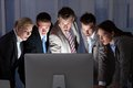 Surprised Business People Looking At Computer Monitor Stock Images - 46836634