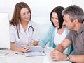 Doctor Showing Digital Tablet To Patient Royalty Free Stock Photo - 46840275