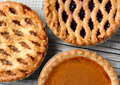 Pies On Cooling Racks Royalty Free Stock Photos - 46840318