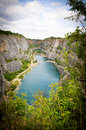 Small Lake In A Quarry Stock Images - 46843584