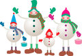 Snowmen Family Stock Photos - 46848093