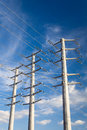 Power Transmission Electrical Lines Royalty Free Stock Image - 46859386