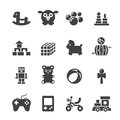 Toy Icon Set Royalty Free Stock Images - 46869779