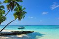 Picturesque Clear Sea Surrounding A Maldivian Island Royalty Free Stock Photos - 46874128